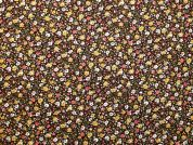 Floral Cotton Fabric  Brown