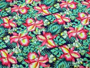 Large Floral Print Polycotton Canvas Dress Fabric  Multicoloured