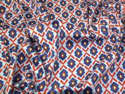 Stretch Cotton Sateen Fabric  Multicoloured