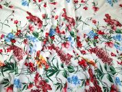 Border Print Viscose Challis Dress Fabric  Multicoloured