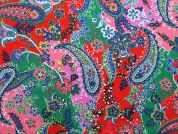Cotton Needlecord Fabric  Multicoloured