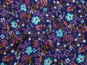 Printed Georgette Fabric  Multicoloured