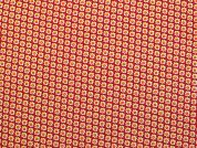 Cotton Needlecord Fabric  Red