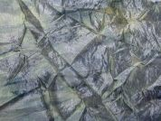 Creased Tie Dye Print Satin Dress Fabric  Grey
