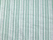 Stripe Print Seersucker Cotton Dress Fabric  Mint Green