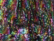 Sequin Lace Fabric  Multicoloured