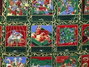 12 Days of Christmas Print Cotton Fabric