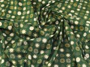 Christmas Cotton Fabric  Green