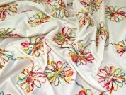 Embroidered Jersey Knit Fabric  Multicoloured