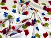 Felted Jersey Knit Fabric  Multicoloured