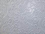 Wooly Lace Fabric  Grey