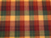 Woven Plaid Check Cotton with Lurex Dress Fabric  Multicoloured