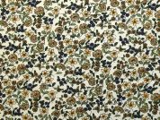 Floral Cotton Fabric  Green