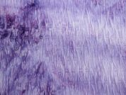 Pleated Texture Tie Dye Stretch Jersey Dress Fabric  Lilac