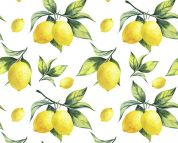 Digital Print Cotton Fabric  Yellow