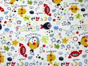Ocean Friends Print Cotton Dress Fabric  Multicoloured