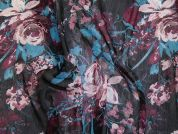 Crinkle Chiffon Fabric  Multicoloured