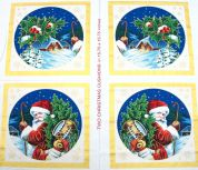 Santa & Winter Scene Cushions Christmas Fabric Panel
