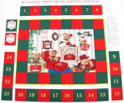 My Lovely Teddy Bears Christmas Advent Calender Fabric Panel