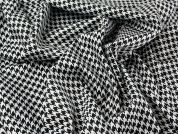 Dogtooth Print Stretch Cotton Dress Fabric  Black & White