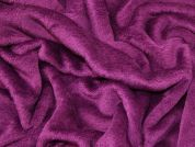 Soft Cuddle Fleece Fabric  Plum