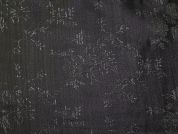 Metallic Brocade Fabric  Black