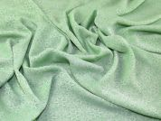 Pastel Polyester Jacquard Crepe Dress Fabric  Green