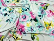 Floral Print Stretch Jersey Dress Fabric  Multicoloured
