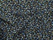 Printed Crepe Fabric  Navy Blue