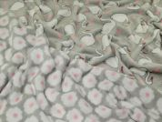Reversible Plush Cuddle Fleece Fabric  Grey