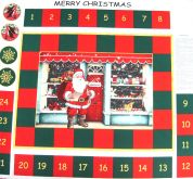 Merry Christmas Advent Calender Fabric Panel