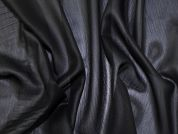 Crinkle Chiffon Fabric  Black