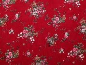 Cotton Needlecord Fabric  Cherry