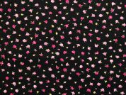 Cotton Needlecord Fabric  Black