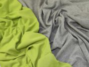 Reversible Ponte Roma Knit Fabric  Lime & Grey