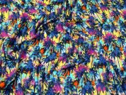 Palm Tree Print Stretch Jersey Knit Dress Fabric  Multicoloured