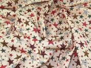 Christmas Cotton Fabric  Peach