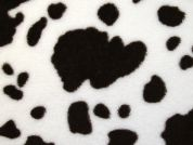 Cow Animal Print Plush Cuddle Supersoft Fleece Fabric  Brown