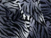 Animal Print Polyester Dress Fabric  Grey