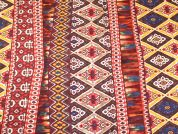 Aztec Print Cotton Lawn Dress Fabric  Multicoloured
