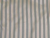 Stripe Print Satin Dress Fabric  Beige