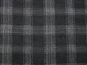 Plaid Check Woven Cotton Voile Dress Fabric  Grey