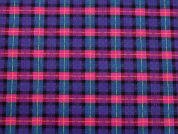 Plaid Check Print Cotton Drill Fabric  Multicoloured