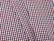 Woven Plaid Check Polycotton Shirting Dress Fabric  Wine & Navy Blue