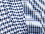 Woven Plaid Check Polycotton Shirting Dress Fabric  Blue & Navy
