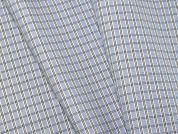 Woven Plaid Check Polycotton Shirting Dress Fabric  Light Blue