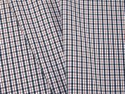 Woven Plaid Check Polycotton Shirting Dress Fabric  Navy & Red