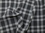 Woven Plaid Check Polyester Dress Fabric  Grey