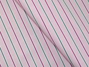 Woven Plaid Check Stripe Polycotton Shirting Dress Fabric  Pink