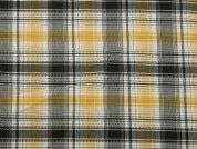 Plaid Check Soft Cotton Shirting Dress Fabric  Yellow & Green